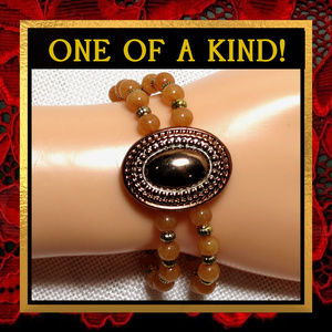 Red Agate Gemstone Bracelet #572